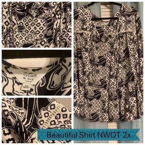 An elephant pattern blouse